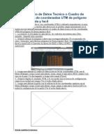 Dibujar Cuadro de Datos Tecnico o Cuadro de Construcción de coordenadas UTM de poligono de forma rapida y facil