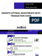 GROWTH OPTIMAL INVESTMENTS WITH TRANSACTION COSTS