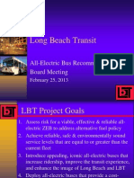 LBT Staff Recommendation for Electric Bus Project, 02/25/13
