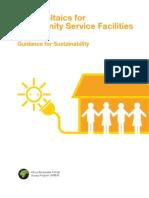Fotovoltaica para sedes de serviços comunitários - Guia para Sustentabilidade