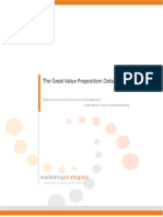 White Paper - The Great Value Proposition Debate
