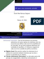 Modelo is-LM Para Una Economia Cerrada (Imprimible)