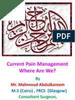 Current Pain Management