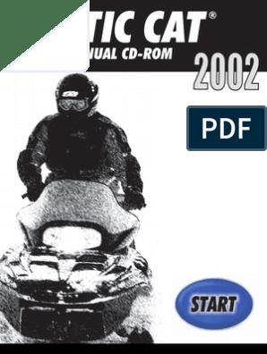 Arctic Cat 2002 Repair Manual | Gasoline | Belt (Mechanical)