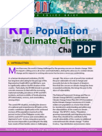 RH, Population and Climate Change Challenge People Count, PLCPD Policy Brief, October 2012