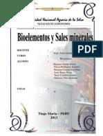 Bioelementos y sales minerales