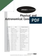Algunas constantes astronomicas