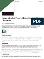 Design a Rocket-Powered Retro Futuristic Digital Illustration - PSDTUTS