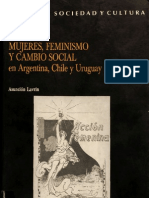 Mujeres, Feminismo y Cambio Social en Argentina, Chile y Uruguay