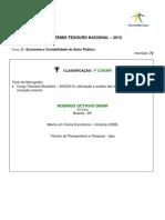 Tema 2 - 1º Lugar - Rodrigo Octávio Orair - 072