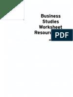 2003 Business Studies Worksheet Resource Pack