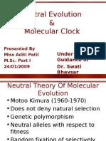 Neutral Evolution and Molecular Clocks