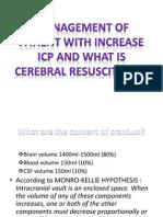 Presentation Cerebral Resuscitation.