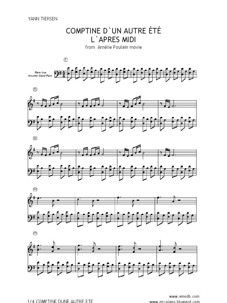 Der die gitarrennoten amelie welt fabelhafte Noten Download