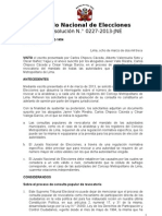 Resolucion N° 000227-2013-JNE