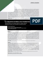 3.Lectura No 2 La adquisición de hábitos como finalidad de la educación superior, Amparo Vélez-Ramírez