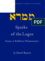 Sparks of the Logos. Essays in Rabbinic Hermeneutics (Limited Peview)