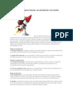 Los 12 pasos para lanzar un producto con éxito