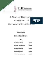 Distribution Management of Hindustan Unilever Ltd.