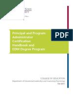 2012 WSU Principal Certification Handbook