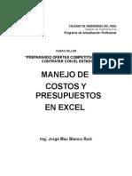 Aplicaciones de Excel Para Costos y Presupuestos