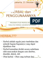 Penyuluhan Penggunaan Obat Herbal