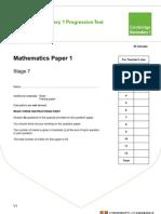 Grade 7 Paper 1