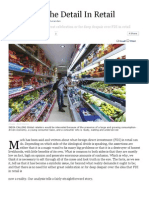 Forbes India Magazine - Decoding the Detail in Retail