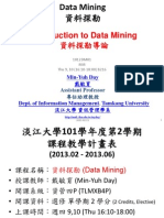 1012DM01 Data Mining