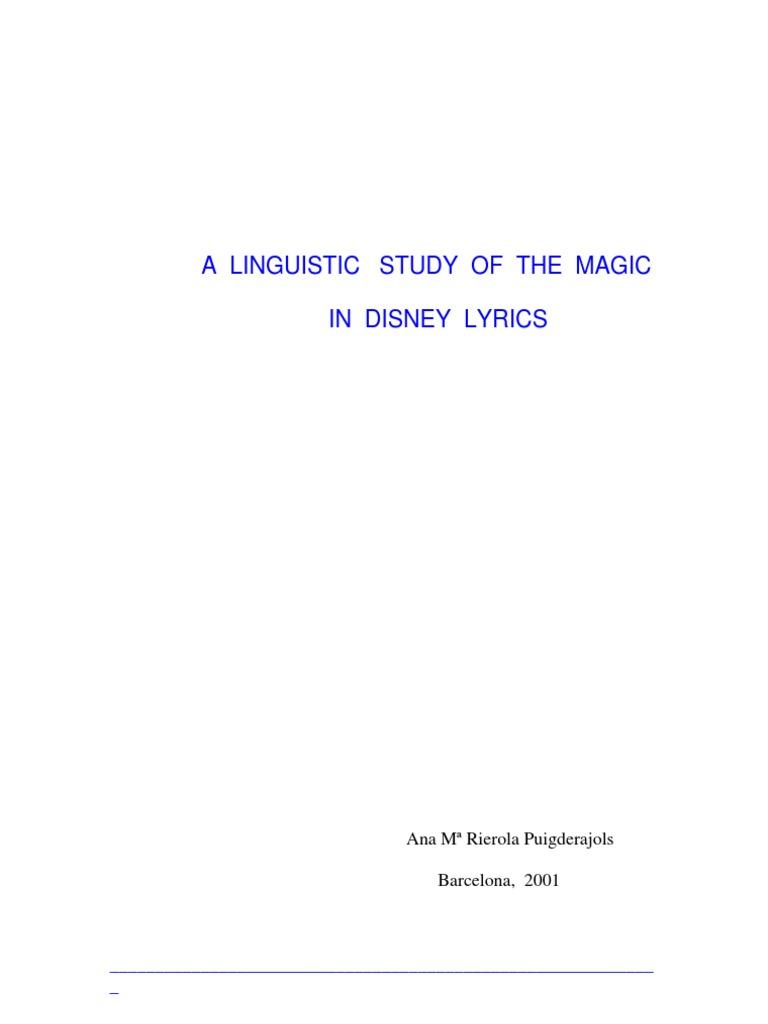 Disney lyrics analysis magic paranormal fable stopboris Image collections