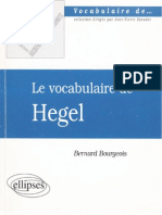 2000. Bourgeois, B. Le Vocabulaire de Hegel