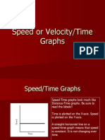 Speed or Velocity-Time Graphs