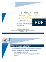 Power Control Simulation in adhoc Networks COMPOW & CLUSTERPOW by PABLO BETANCUR - date 05-2009
