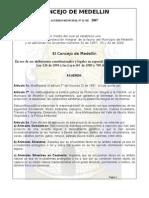 Acuerdo 22 de 2007
