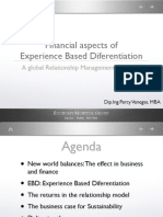 Financial Aspects of Experience Based Differentiation, A Global Relationship Management Approach-Prague Conferences