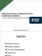 Aspectos técnicos y financieros de la arquitectura holística