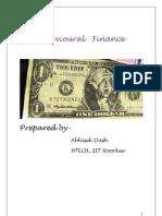 Behavioural Finance Adash