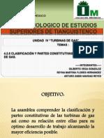 4.2.1 CLASIFACIACIÓN Y PARTES DE CONSTITUTIVAS DE LAS TURBINA DE GAS