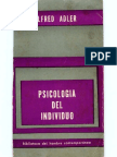 Adler-Psicologia Del Individuo