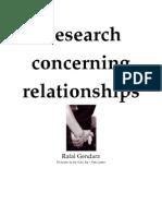 Sambandha - Research Concerning Relationships