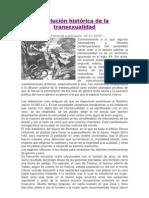 Evolución Histórica de La Transexualidad