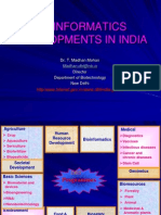 Bioinformatics Developments in India