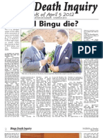Bingu Death Inquiry Events of April 5th, 2012