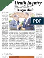 Bingu Death Inquiry Events of April 5th, 2012