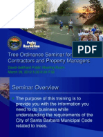 City of Santa Barbara Tree Ordinance Seminar