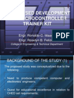 Proposed Development of Microcontroller Trainer Kit