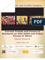 Current Trend and Issues in Research on Hiv in Africa