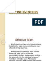 Organizational Development TEAM INTERVENTIONS
