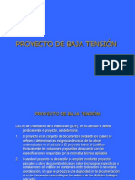TEMA I. PROYECTO DE BAJA TENSIÓN.