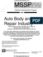 IRS Audit Guide for Autobody and Auto Repair Shops